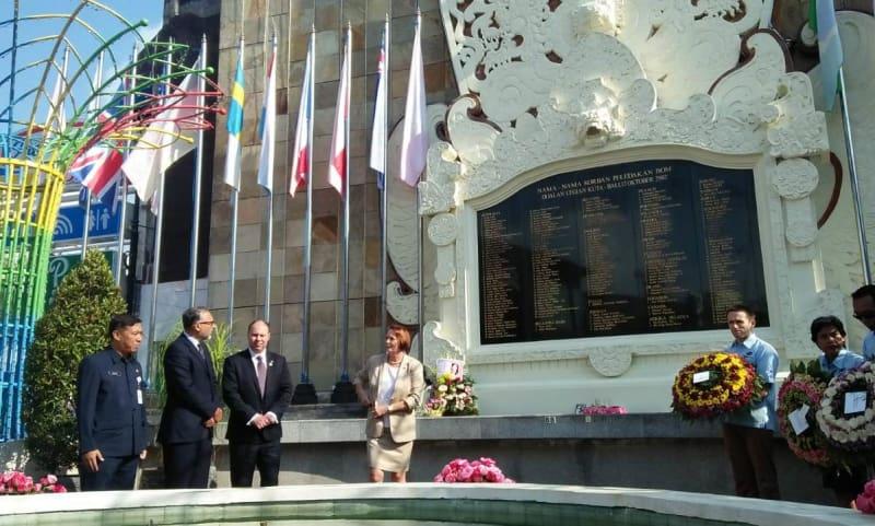Acara Peringatan 16 Tahun Bom Bali di Monumen Legian, Jumat (12/10/2018). Photo: Kumparan.com