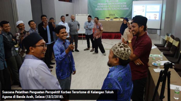 Suasana Pelatihan Penguatan Pespektif Korban Terorisme di Kalangan Tokoh Agama di Banda Aceh, Selasa. (13/02/2018)